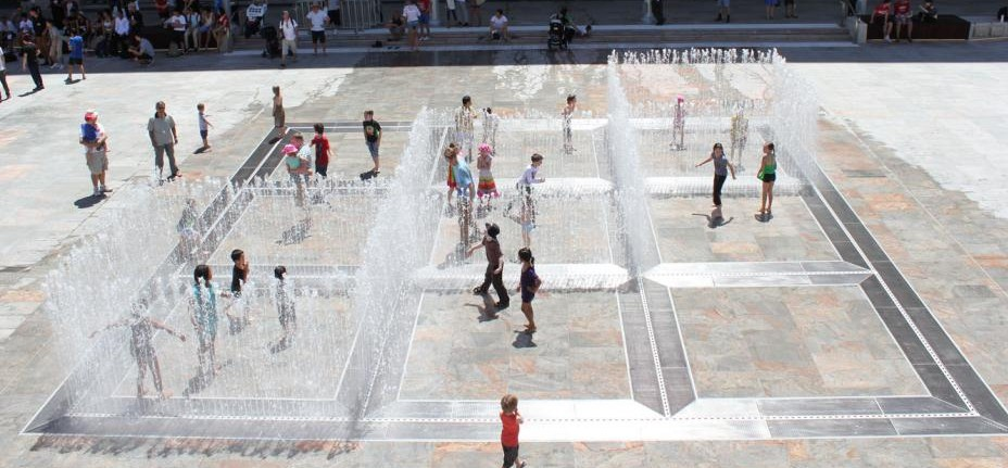 Jeppe Hein, Appearing Rooms, permanent installation, Perth, Australien